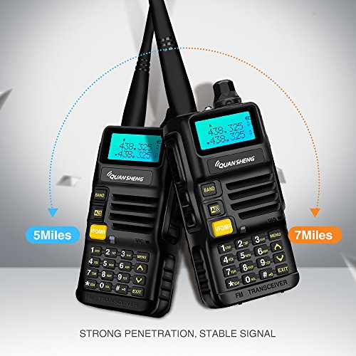 Quansheng UV-R50 Rechargeable Dual Band Two-Way Radios with Earpiece Long Range Walkie Talkies (136-174MHz VHF & 400-520MHz UHF) Ham Amateur Radio Li-ion Battery and Charger Included by QUANSHENG (Image #4)