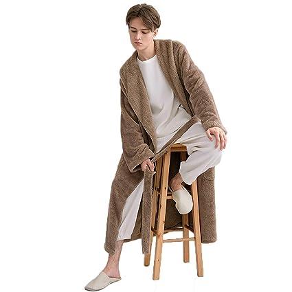 Pijamas Bata De Baño Albornoz Toalla De Baño Unisex Lujo Servicio Largo Y Cómodo Hogar Coral