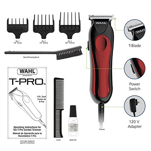 Amazon Wahl T Pro Trimmer Corded Hair And Beard Trimmer