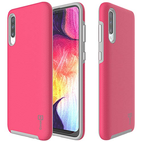 (Galaxy A50 Case, Shockproof Tough Protective Premium Hard Phone Case with Easy-Press Metalized Buttons for The Samsung Galaxy A50 (2019) - CoverON Rugged Series (Pink))