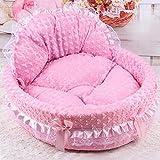 Jiyaru Lace Princess Dog Kitten Pet Bed Sofa Cushion Pet House Pink Size S