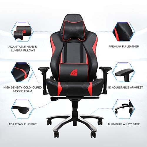 Super Inland Lightning Gaming Chair Ergonomic Office Chair Racing Style Swivel Rocker Recliner With 5 Year Warranty Black Red Andrewgaddart Wooden Chair Designs For Living Room Andrewgaddartcom