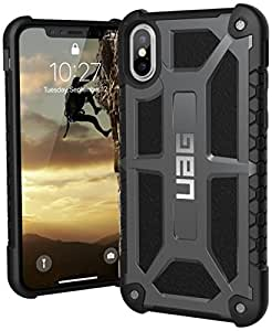 UAG iPhone X Monarch Feather-Light Rugged [GRAPHITE] Military Drop Tested iPhone Case