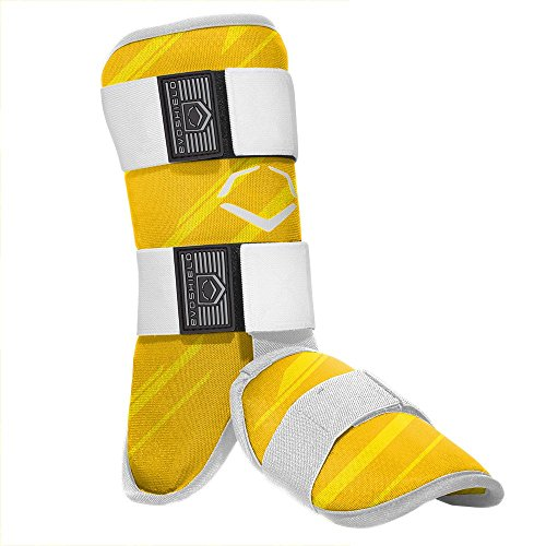 EvoShield MLB Batters Speed Stripe Leg Guard, Yellow, Adult (Guard Batters)