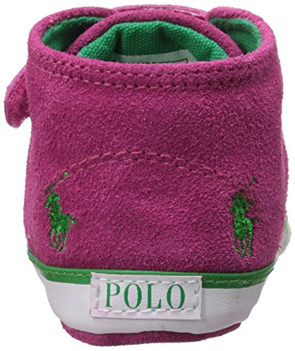 Polo Ralph Lauren Polo Bal Harbour Cap Toe Layette Pink Suede Baby Soft Soles Pink