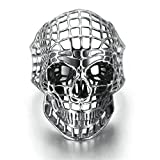 kirby tattoos - Stainless Steel Ring for Men, Skull Ring Gothic Silver Band 2035MM Size 10 Epinki