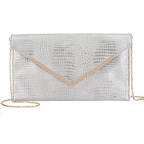 Silver Shiny Material Fabric Womens Prom Bag Envelop Evening Clutch Wedding Party Sequins Handbag Gabrine for Purse wZ0qUS