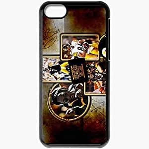 Personalized iPhone 5C Cell phone Case/Cover Skin 874 pittsburgh steelers Black by icecream design