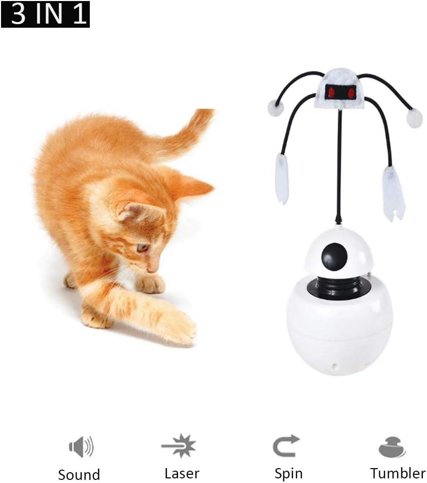 WXG1 Gato de la diversión del Juguete eléctrico - Pet Interactivo Juguete eléctrico, 3-en-1 Diseño Funcional, 360 Grados de rotación automática, Teaser Vaso del escondite Juguete del Gato: Amazon.es: Deportes y aire