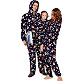 GBSELL Women Family Pajamas,Santa Claus Holiday Christmas Family Matching Soft Sleepwear Jumpsuit (Kids, 6 Years)