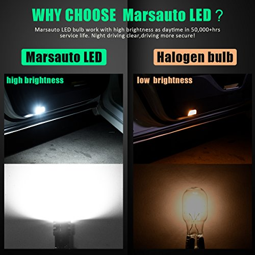 Marsauto-T10-168-194-2825-LED-Bulbs-Super-Bright-5SMD-Exterior-License-Plate-Lights-Lamp-Car-Interior-Courtesy-Dome-Lights-Map-White-10-Pack