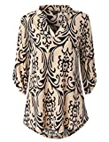 Best Popular Rolls - Dawiine Womens Casual Tunic Tops 3/4 Roll Sleeve Review