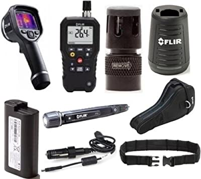 FLIR 63902-RTP Restoration Technician Package; Includes: 63902-0202 Model E6 Infrared Camera, MR77 Pinless Moisture Meter, MR01 Replacement Temp/RH Sensor, T198509 Car Charger, T198531 External Charger, T198487 Extra Battery, T198484 Pouch Case, T911093 T