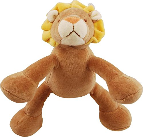 Simply Fido Leo 6-Inch Petite Brown Lion Squeaker Dog Toy