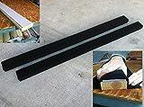 (2) 5' Long Marine Carpet BLACK Bunk Boards w/PADDING
