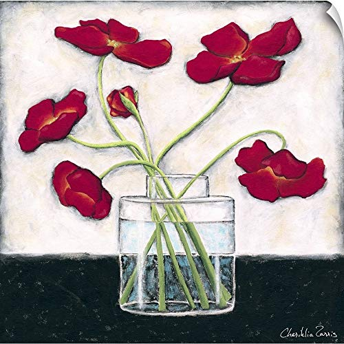 - CANVAS ON DEMAND Printed Modern Poppies II Wall Peel Art Print, 24