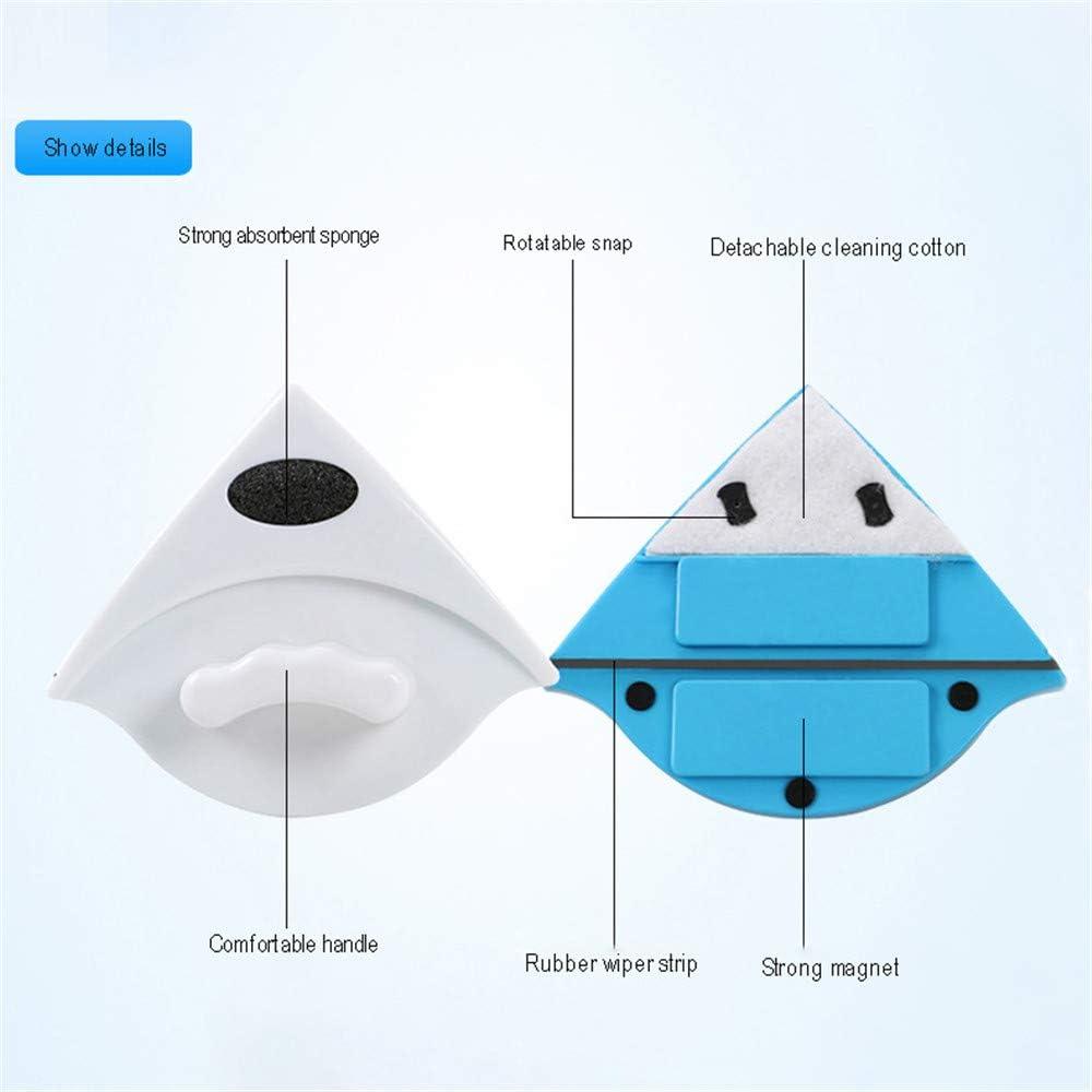 3-8mm Nettoyeur de Vitres Magn/étique Outil de Nettoyage Surfaces dEssuie-Glace en Verre Double Face Multifonctions avec Conception Poign/ée Ergonomique pour Portes Coulissantes Fen/être V/éhicule