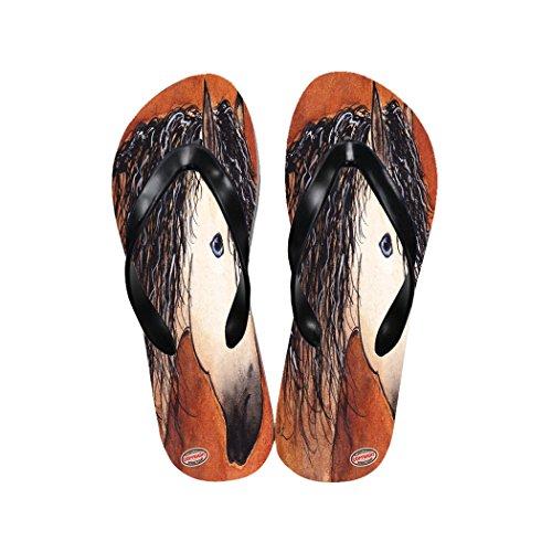 Buckskin Quarter Horse (Art by Denise Every Casual Flip Flop Sandals - Buttermilk Buckskin Quarter Horse Abstract)