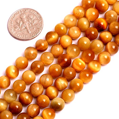 - Tiger Eye Beads for Jewelry Making Natural Semi Precious Gemstone 6mm Gold Strand 15