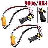 9006 HB4 50W 6Ohm Error Free LED Light Load Resistor Adapter Fix Flashing Flickering Blinking for Headlight Daytime Running Light Turn Signal Fog Lamp - 1 Year Warranty