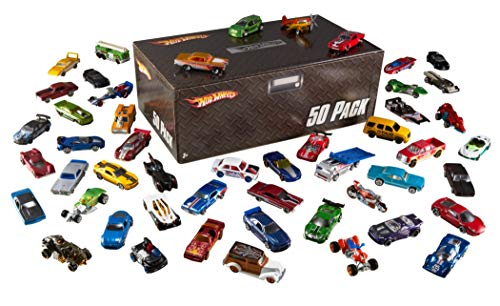 Hot Wheels Basic Car 50-Pack (Packaging May Vary) - Take Along Diecast Metal