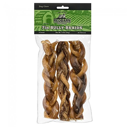 Redbarn 7-Inch Braided Bully Sticks (1-Pack Of 3) 3.2 Oz ()