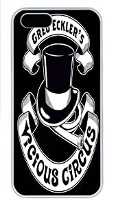 iPhone 5S Case and Cover -The Vicious Circus Badge Custom PC Hard Case Cover for iPhone 5/5S White