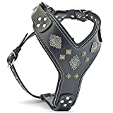 Bestia ''Aztec Black Chest Plate Harness. 2 Tone Rivet Decorations. Zipper Decoration. Foam and Leather Padding Handmade in Europe.