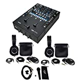 Package: Rane Sixty-Two Performance Plug & Play DJ Audio Mixer + (2) Audio Technica ATH-M50X Over Ear Professional Studio Monitor Collapsible Headphones + Peavey PVI100XLR Wired Dynamic Cardioid Vocal Microphone + Carrying Pouch + Mic Clip + XLR Cable