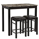 M Bar Kitchen Groupon LTL Shop 3pc Dining Table Set Includes Table and 2 Stools