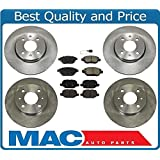 12-16 Fiat 500 Abarth Turbo Front & Rear Brake Disc Rotors & Ceramic Pads