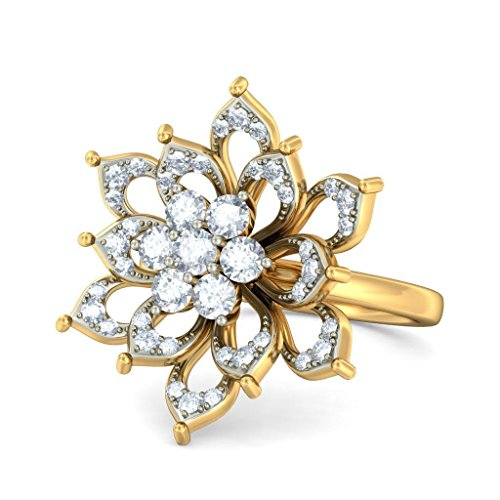 Or jaune 18 K, 0,65 CT TW Diamant Blanc (IJ | SI) en diamant