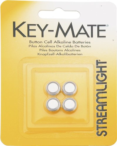 Mate Light Key (Streamlight 72030 4 Pack Replacement Batteries for Key-Mate)