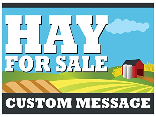 Signs Yard Coroplast Custom - CUSTOM Hay For Sale 18x24