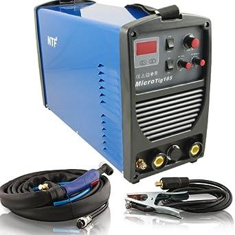 TIG Inverter de soldadura dispositivo NTF MicroTig185 AC/DC: Amazon.es: Industria, empresas y ciencia