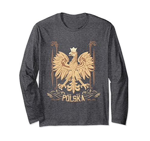 Unisex Polska Polish Eagle Falcon Long Sleeve T-Shirt Small Dark - Clothing Inc Falcon