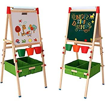 Amazon Com Arkmiido Kids Easel With Paper Roll Double
