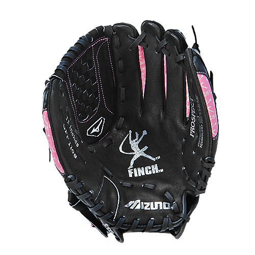 (Mizuno Youth GPP1108 Prospect Fast Pitch Softball Mitt (Black/Pink, 11.00-Inch, Right Handed Throw))