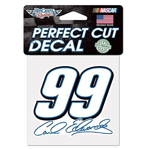WinCraft Carl Edwards Official NASCAR 4 inch x 4 inch Die Cut Car Decal by ()