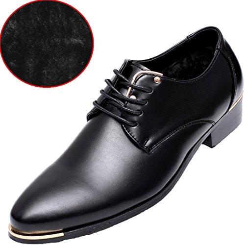 Zapatos De Vestir Con Cordones Clásicos Oxford Oxford Classic Para Hombre Derby Black Blue Red Black (forro De Felpa)
