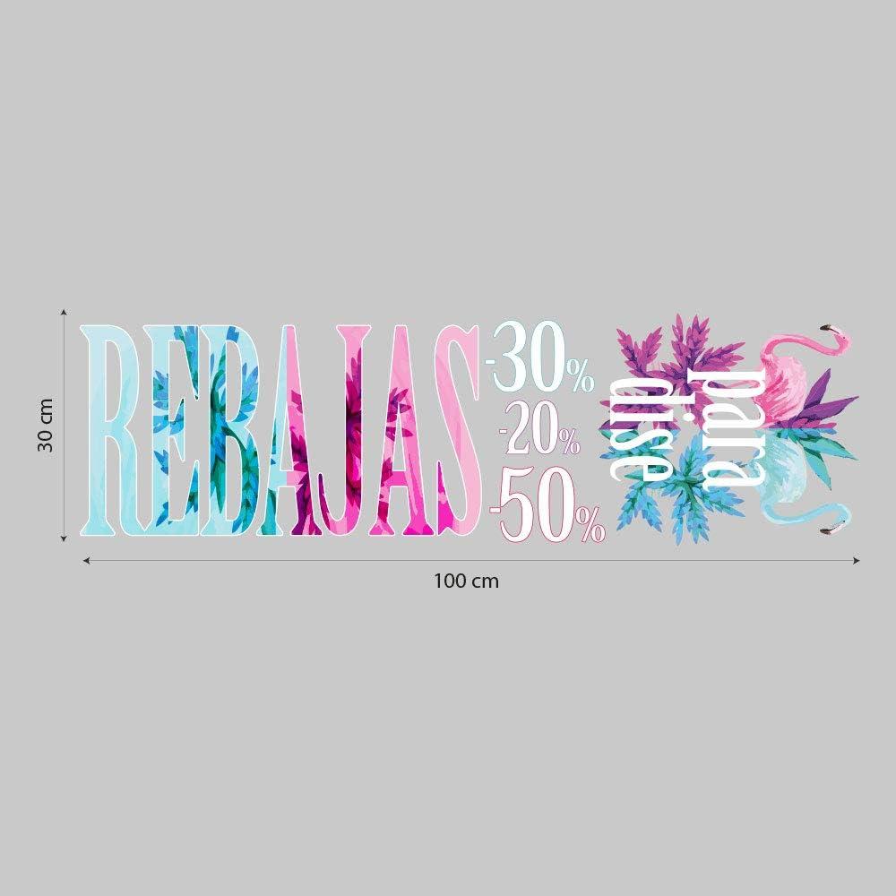 kina UVSD0226 Adhesivo de Ventana de Verano en PVC Transparente Decoraciones Adhesivas para escaparates Medidas 100 x 30 cm