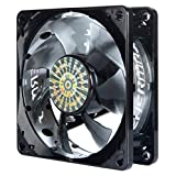 Enermax PWM Series T.B. Silence 80mm Ultra Quiet Twister Bearing Cooling Case Fan, Black UCTB8P