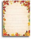 Fall Barnyard Leaves Stationery Paper - 80 Sheets