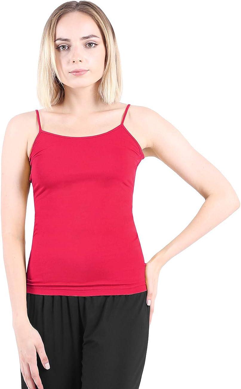 DISHANG Camisola Tirantes de Espagueti Tops Básicos Suave Elástico Chaleco para Mujer