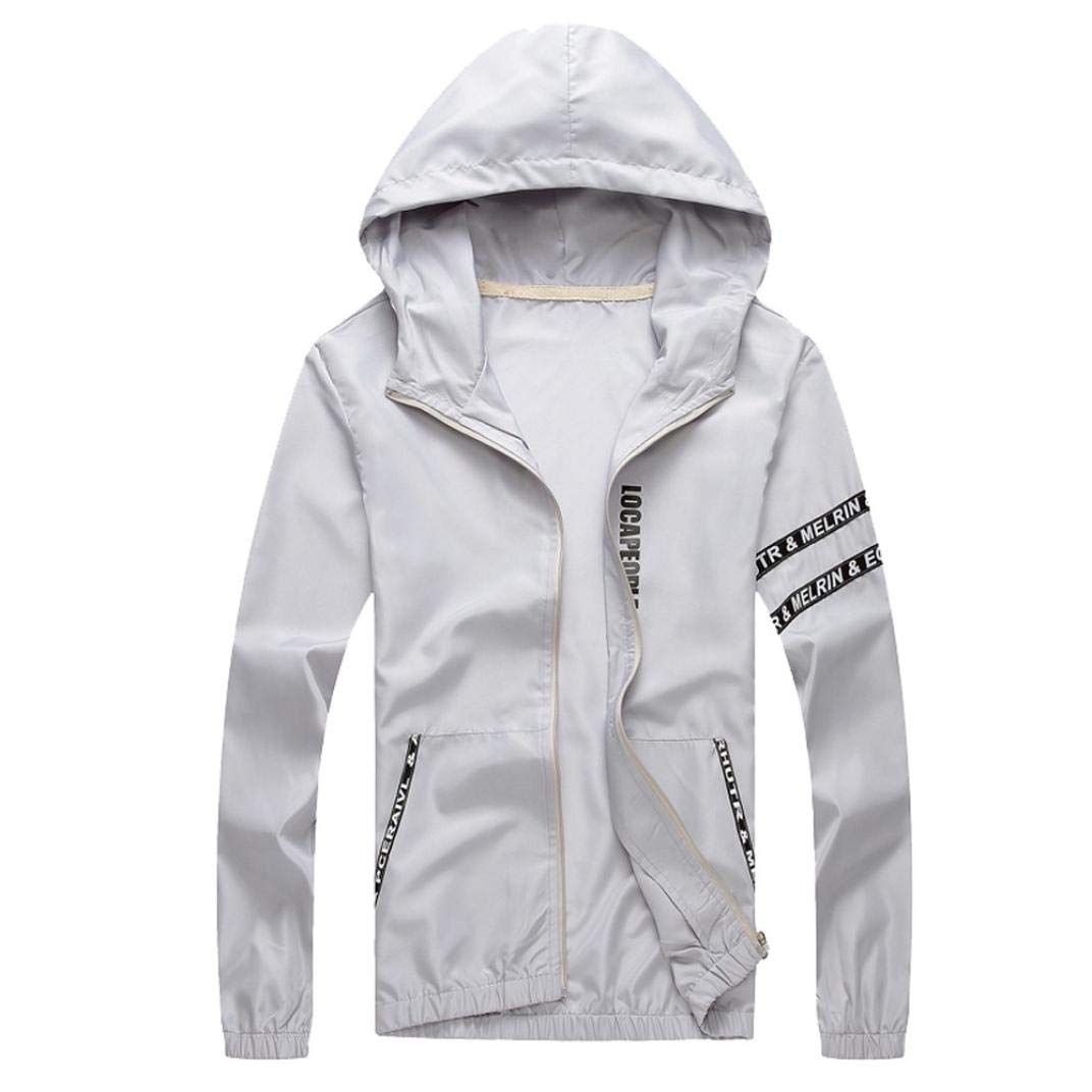 WUAI Clearance Deals, Mens Athletic Hooded Jacket Quick Dry Outdoor Sports Running Lightweight Hoodie Sweatshirt WUAI-mens jackets