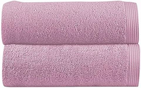 Stilia - Toalla de Lavabo 500 gr. 100% algodón peinado color lavanda 50x100 cm: Amazon.es: Hogar