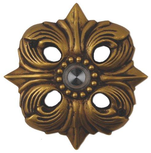 Waterwood Solid Brass Avalon Doorbell in Antique Brass
