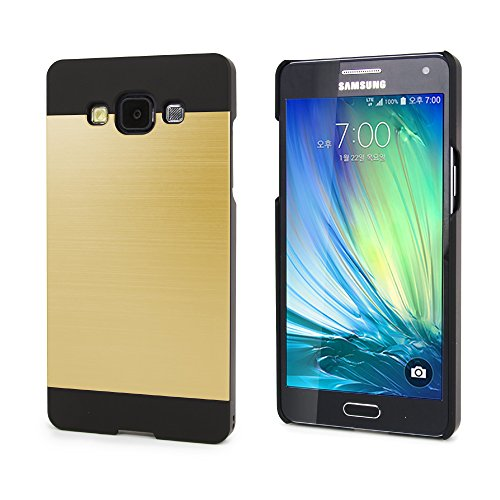 Galaxy A5 Case, Slim Fit , Ino metal [Aluminum cover] for Samsung Galaxy A5 (Gold Black)