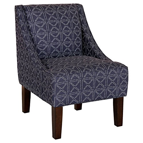Hudson Swoop Arm Chair - Geo Dot Indigo (Hudson Chair Living Room Chair)