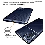 Golden Sand for Mi 11X Back Cover Drop Tested Shock Proof Slim Armor Aramid Carbon Fibre Rugged TPU for Mi 11X Pro Case…